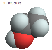 3-D structure of ethanol