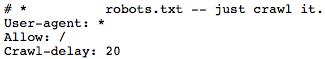Nike's robots.txt file