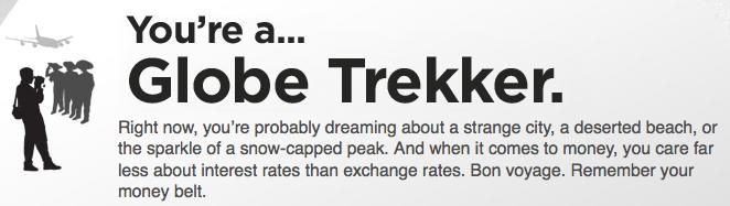 Globe Trekker spend pattern