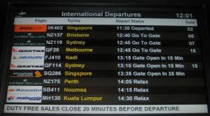 Flight notice board