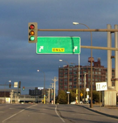 Highway Sign with no town name