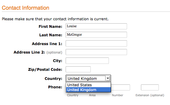 Contact information for kindle blog publishing