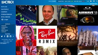 Luxottica's New Homepage