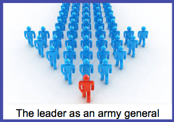 The leader as an army general