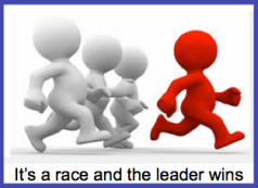 It's a race and the leader wins