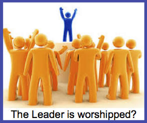 The leader is worshipped?