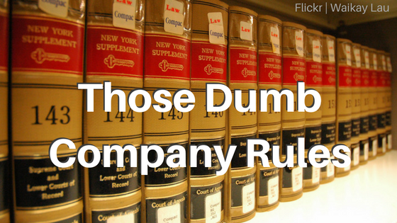 Law books - company rules