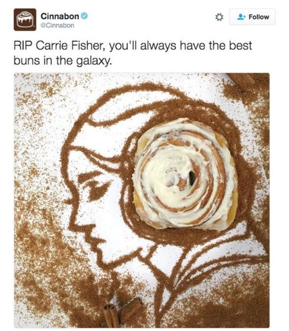 Cinnabon failed Carrie Fisher